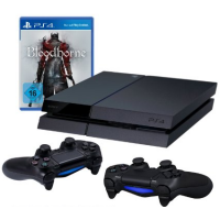 PlayStation 4 – Konsole inkl. Bloodborne + 2x Wireless Controller um 399€