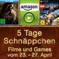 5 Tage Schnäppchen auf Filme und Games bei Amazon