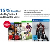 15% auf alle Xbox One- und PS4-Spiele am 24.4.2015 bei Müller