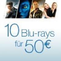 10 Blu-rays um 50€ bei Amazon