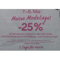 """-25% """"Meine Modetage"""" bei C&A am 7. und 8. Mai"""