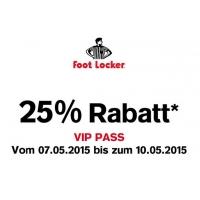 -25% bei Foot Locker vom 07. – 10. Mai 2015