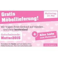 Möbelix Onlineshop: Kostenlose Möbellieferung am Muttertag (10.05.2015)