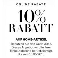H&M Onlineshop: kostenloser Versand + 10 % Rabatt auf Home-Artikel