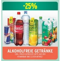 Merkur: -25% auf 3 Warengruppen bis 20.5. – z.B.: alkoholfreie Getränke