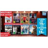 Libro Onlineshop: 3 DVDs oder 2 Blu-Rays um 15 € (versandkostenfrei)
