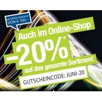 Hervis Online: -20% Rabatt auf (fast) alles ab 100 Euro Einkaufswert