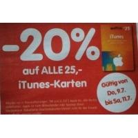 Interspar: -20 % auf iTunes-Karten vom 9. – 11.7.2015