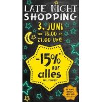 Merkur: Late-Night-Shopping heute am 3.6.2015 (18-21 Uhr) mit -15 % Rabatt auf den gesamten Einkauf (ab 15 € Einkaufswert)