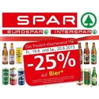 Spar/Eurospar/Interspar: -25% auf Bier (Radler) am 19. u. 20.6.2015