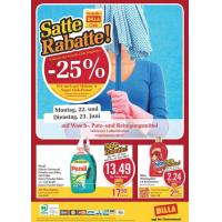 Neue Sortimentsaktionen z.B.: -25% auf Wasch-, Putz- und Reinigungsmittel bei Billa
