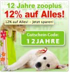 -12% auf alles bei Zooplus.de