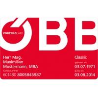 ÖBB Vorteilscard Classic um 49 € statt 99 € bis 30.9.2016 – 1 Jahr gültig!