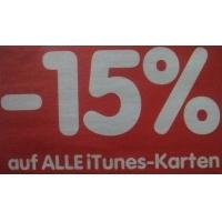 – 15% auf iTunes-Karten vom 22. bis 24.10.2015 bei Interspar