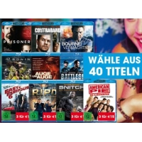 Libro: 3 Blu-Rays um 15 € (40 ausgewählte Filme)