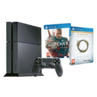 PlayStation 4 inkl. The Witcher 3 + The Elder Scrolls Online um 399€