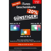 Lidl: – 20% auf iTunes-Karten vom 13. bis 18. Juli 2015
