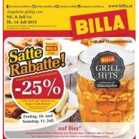 Billa: -25% auf Bier (Radler) am 10. und 11. Juli 2015 (für Clubmitglieder)