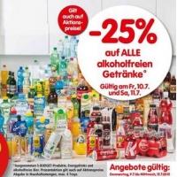 Interspar: -25 % auf alle alkoholfreien Getränke am 10. und 11.7.2015