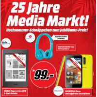 25 Jahre Media Markt – Hochsommer-Schnäppchen zum Jubliläums-Preis – z.B. Kindle Paperwhite oder Beats Solo Kopfhörer um je 99€