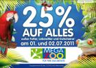 -25% auf alles (ausgenommen Futter, Lebendtier und Gutscheine) @MegaZoo
