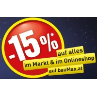 Baumax Late-Night-Shopping: 15 % Rabatt am 14.8.2015 von 18-21 Uhr