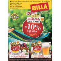 Neue Sortimentsaktionen z.B.: -10% auf alles oder -25% auf Bier bei Billa