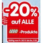 20% Rabatt auf LEGO Artikel in der Interspar Filiale und Online