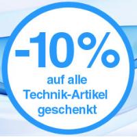 Quelle.at Aktionstage – 10% auf Technik (inkl. reduzierte Artikel!)