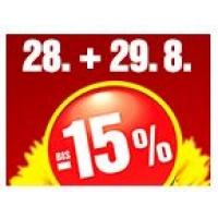 Bis zu -15 % Rabatt auf einen Artikel bei Baumax am 28. & 29.8.2015