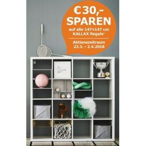Kallax Regal 147x147cm um 69,99 € statt 99,99 € bei Ikea