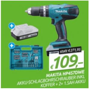 Makita Akku Schlagbohrerschrauber + 2 Akkus um 109 € statt
