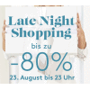 Designer Outlet Parndorf: Late Night Shopping am 23.08.2018 bis 23 Uhr