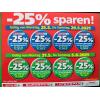 25 % Rabatt-Aufkleber bei der Spar-Gruppe vom 24. – 27. Juli 2017