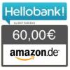 Hello bank! Depot - 60 € Amazon.de + keine Depotgebühr bis Ende 2018