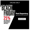Peek&Cloppenburg Black Friday – 25 % Rabatt auf Sale & gratis Versand