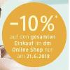 DM Onlineshop: 10% Rabatt auf den gesamten Einkauf am 21.6.2018